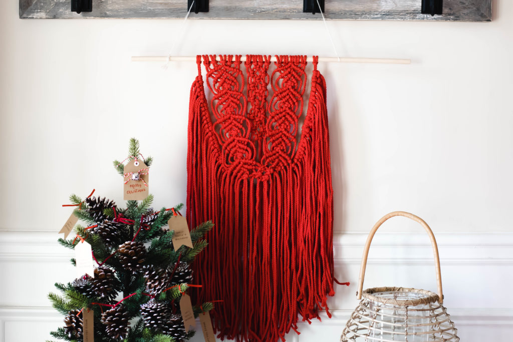 Holiday Inspired Macrame Wall Hanging Foxy Twine